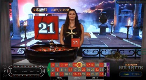 Playtech live kasinot: Age of the Gods roulette
